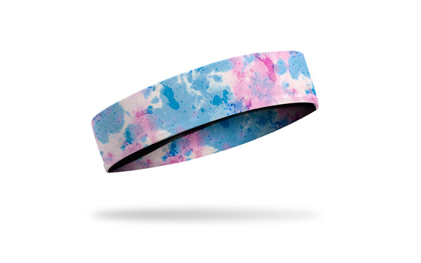 colorful pink white and blue pastel Easter headband