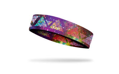 Star Dancer themed colorful headband with stars, galaxies, constellations