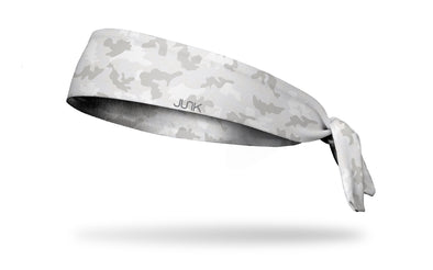 White and Gray Camo Tie Headband