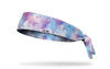 colorful blue white and purple pastel Easter headband