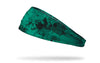 dragon's tears teal headband with grunge overlay design