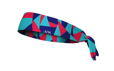 colorful color block headband in red blue and navy