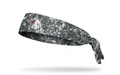 navy headband with paint splatters and generic eagle mascot in full color