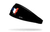 black headband with rooster outline filled in with grunge French flag design