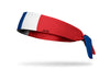 France Flag Tie Headband - Left Side