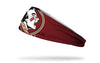 white and garnet headband with Florida State University seminole logo