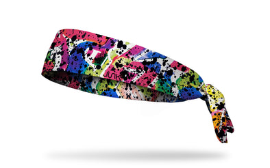 colorful graffiti headband with paint splatters