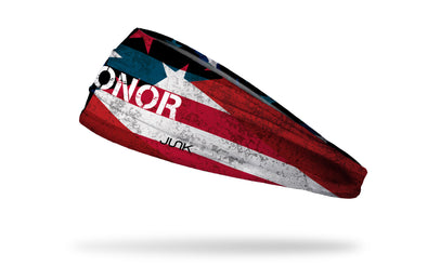 Memorial Day headband with Honor wordmark on flag design