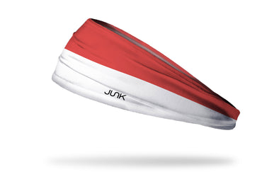 headband with traditional Indonesia flag design