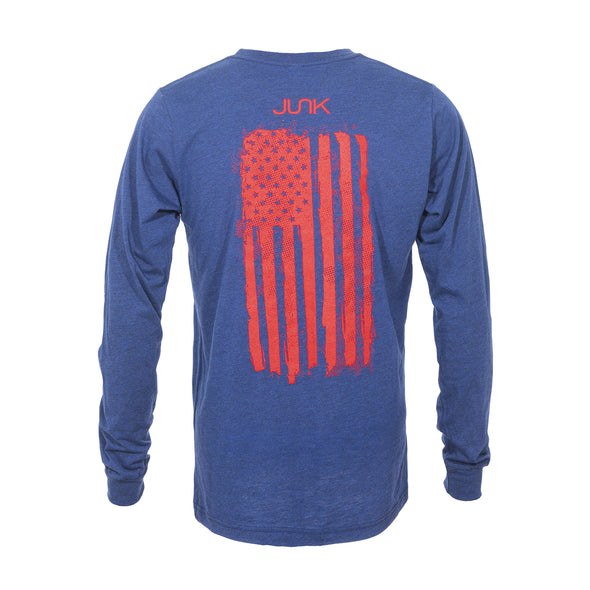 JUNK Grunge Navy Long Sleeve Tee