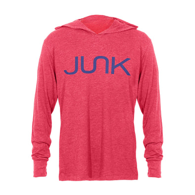JUNK Tri-Blend Red Hooded Tee