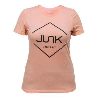 Women's JUNK Tri-Blend Light Orange Tee