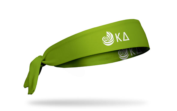 Kappa Delta (KD) Greek Logo Green Tie Headband