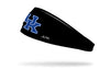 black headband with University of Kentucky U K logo in blue and white
