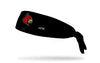 black headband with University of Louisville cardinal mascot in full color