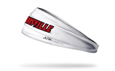 University of Louisville: Wordmark White Headband