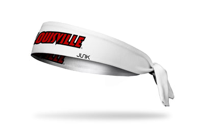 University of Louisville: Wordmark White Tie Headband