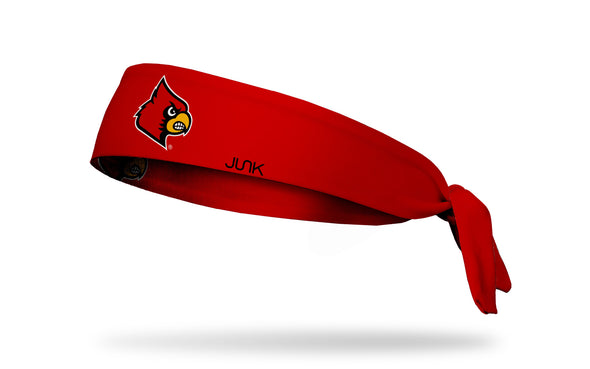 red headband with University of Louisville cardinal mascot in full color