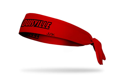 University of Louisville: Wordmark Red Tie Headband