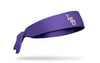 Louisiana State University: LSU Baseball Purple Tie Headband