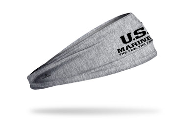 officially licensed United States Marines grey headband