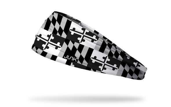 Maryland Monochrome Flag Headband