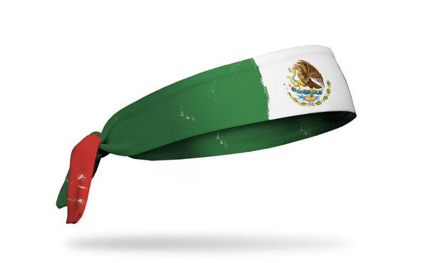 headband with traditional Mexico flag design made to look like it has been painted