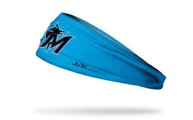 Miami Marlins: M Logo Blue Headband