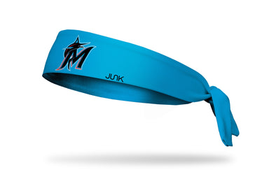 Miami Marlins: M Logo Blue Tie Headband
