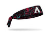 paint splatter headband with Arizona Diamondbacks logo in white