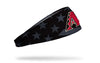 black and white american flag headband with Arizona Diamondbacks logo in full color