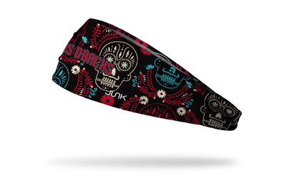 Arizona Diamondbacks hispanic heritage night hedband with sugar skull design