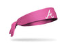 Pink headband with atlanta braves logo in pink