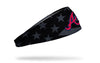 black and white american flag headband with Atlanta Braves logo in full color