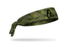 Green camo headband with Baltimore orioles logo in black