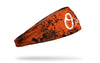 grunge overlay headband with Baltimore Orioles logo in white