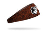 static headband with Baltimore Orioles logo in white