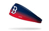 navy to red gradient headband with Boston Red Sox logo in white