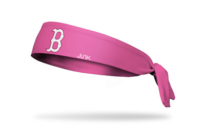 Pink headband with red sox logo in pink