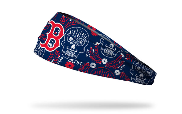 Boston Red Sox hispanic heritage night hedband with sugar skull design