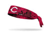 grunge overlay headband with Cincinnati Reds logo in white