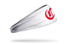 white headband with Cincinnati Reds red original logo