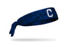 grunge overlay headband with Cleveland Indians logo in white