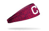 static headband with Cleveland Indians logo in white