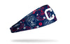Cleveland Indians hispanic heritage night headband with sugar skull design