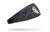 static headband with Chicago White Sox logo in white