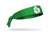 green headband with Chicago White Sox logo on white shamrock