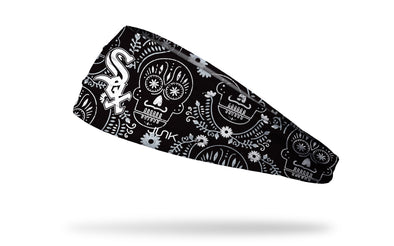Chicago White Sox hispanic heritage night headband with sugar skull design