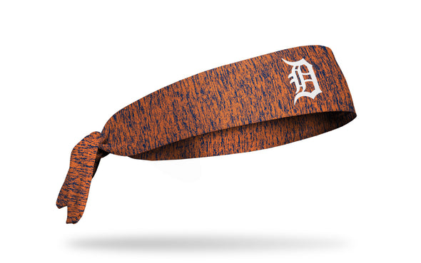 static headband with Detroit Tigers logo in white