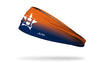 orange to blue gradient headband with Houston Astros logo in white